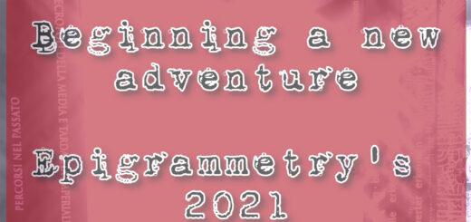Beginning a new adventure - Epigrammetry's 2021